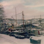 14 Snowbound Puffer at Crinan 1979