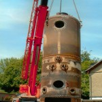 New boiler at Pridhams july 2006