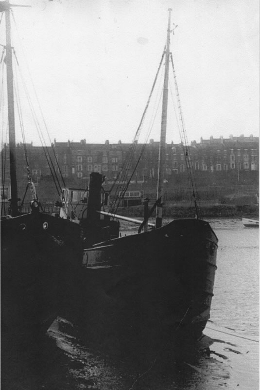 Puffer on berth at Whitby in 1975