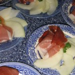 Start your dinner with melon and prosciutto