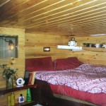 One of the cosy cabins