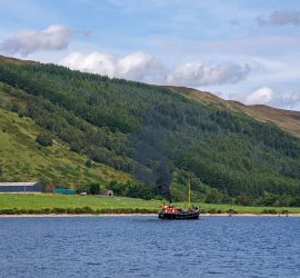 VIC32 in The Caledonian Canal